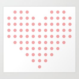 Heart of Dots Art Print