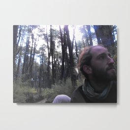 In The Back of a Truck, In The Depths of the Wood Metal Print