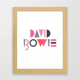 Memphis Bowie Framed Art Print