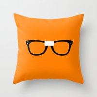 alex vause Throw Pillows featuring Alex Vause Glasses OITNB by Maria Giorgi