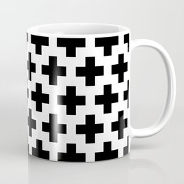 Swiss Cross B&W Coffee Mug