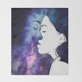 Kisses from the universe. Throw Blanket