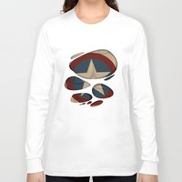 captain Long Sleeve T-shirts featuring CAPTAIN by karakalemustadi