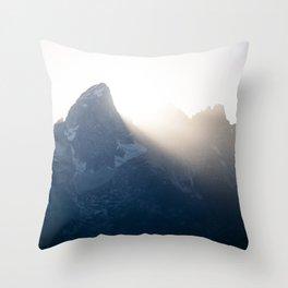 grand teton mountains sunset Throw Pillow