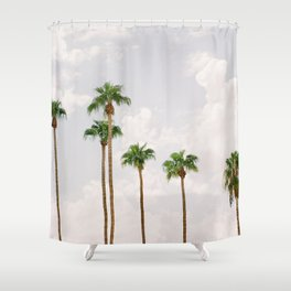 Palm Springs Palm Trees Shower Curtain