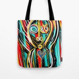 Blue heart Street Art Graffiti Tote Bag