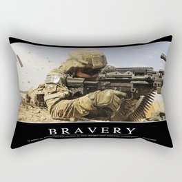 Bravery: Inspirational Quote and Motivational Poster Rectangular Pillow