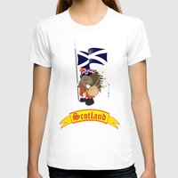 scotland T-shirts featuring Greetings from Scotland by mangulica