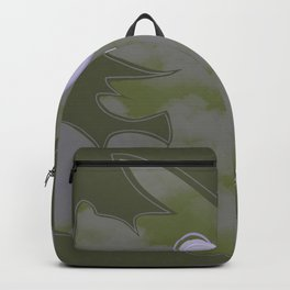 Abstract Hue (Green) Backpack