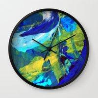 blueprint Wall Clocks featuring Blueprint by Faye Readman