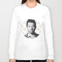 castiel Long Sleeve T-shirts featuring CASTIEL by Hands in the Sky