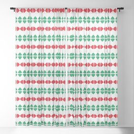 Christmas Pattern White Red Green 1 Sheer Curtain