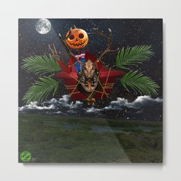 Jack Flying in Gump at Night Metal Print