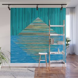 Mountain Lake Abstract Wall Mural