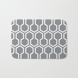 grey beehive Bath Mat
