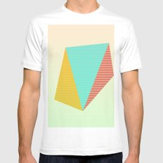 Patchwork Mens Fitted Tee MEDIUM White