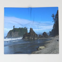 Morning At Ruby Beach Throw Blanket