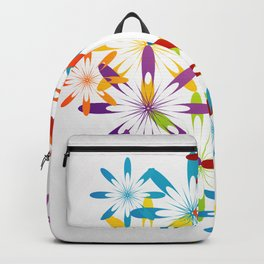 A large Colorful Christmas snowflake pattern- holiday season gifts- Happy new year gifts Backpack