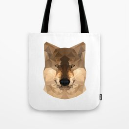Wolf   Natural polygon wolf Tote Bag