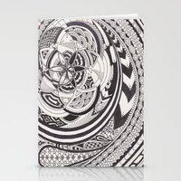 fibonacci Stationery Cards featuring Fibonacci Effect by SRC Creations