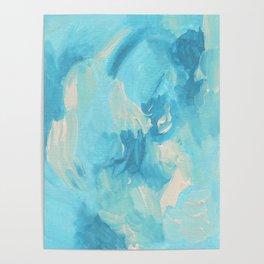 Aqua Pool Abstract Poster