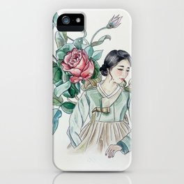 Roses (Hanbok girls) Watercolor iPhone Case