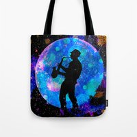jazz Tote Bags featuring Jazz by Saundra Myles