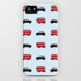 London Buses and Taxis iPhone Case
