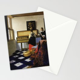 Johannes Vermeer  - The Music Lesson Stationery Cards