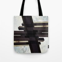 crystal Tote Bags featuring Crystal by CrookedHeart