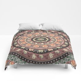 Cat Yoga Medallion Comforters