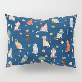 Cat Queens (Blue) Pillow Sham