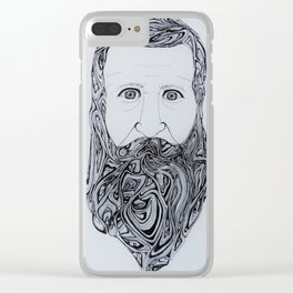Bearded Man Clear iPhone Case