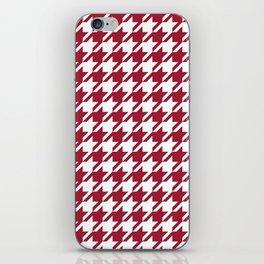 Bama crimson tide college state pattern print university of alabama varsity alumni gifts houndstooth iPhone Skin