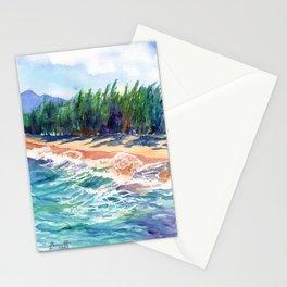 Kauai North Shore Beach 2 Stationery Cards