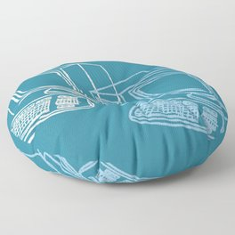 Blue Computer Floor Pillow