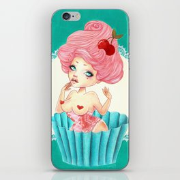 Cupcake Girl iPhone Skin