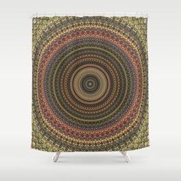 Vintage Bohemian Mandala Textured Design Shower Curtain