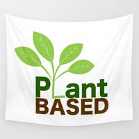 vegan Wall Tapestries featuring Plant Based Vegan Art by UMe Images