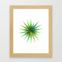 leaves of grass Framed Art Print