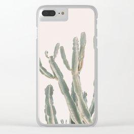 Sunrise Cactus Clear iPhone Case
