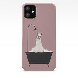 Llama in Bathtub iPhone Case