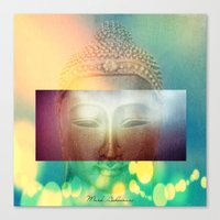 buddha Canvas Prints featuring buddha by mark ashkenazi