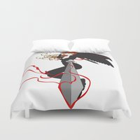 justice league Duvet Covers featuring Justice by Stevyn Llewellyn