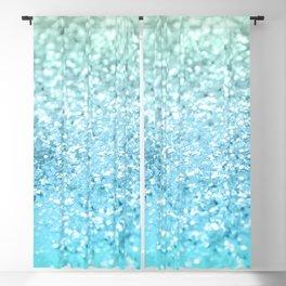 Seafoam Aqua Ocean MERMAID Girls Glitter #1 #shiny #decor #art #society6 Blackout Curtain