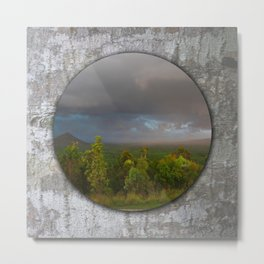 Approaching storm over Australian Landscape Metal Print