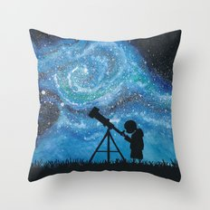 Observing the Universe Throw Pillow