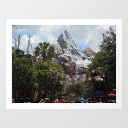 Disney's Animal Kingdom Everest 3 Art Print