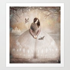Moth Princess Art Print