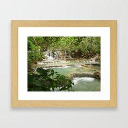 Zen Waterfalls Harmony #2 Framed Art Print